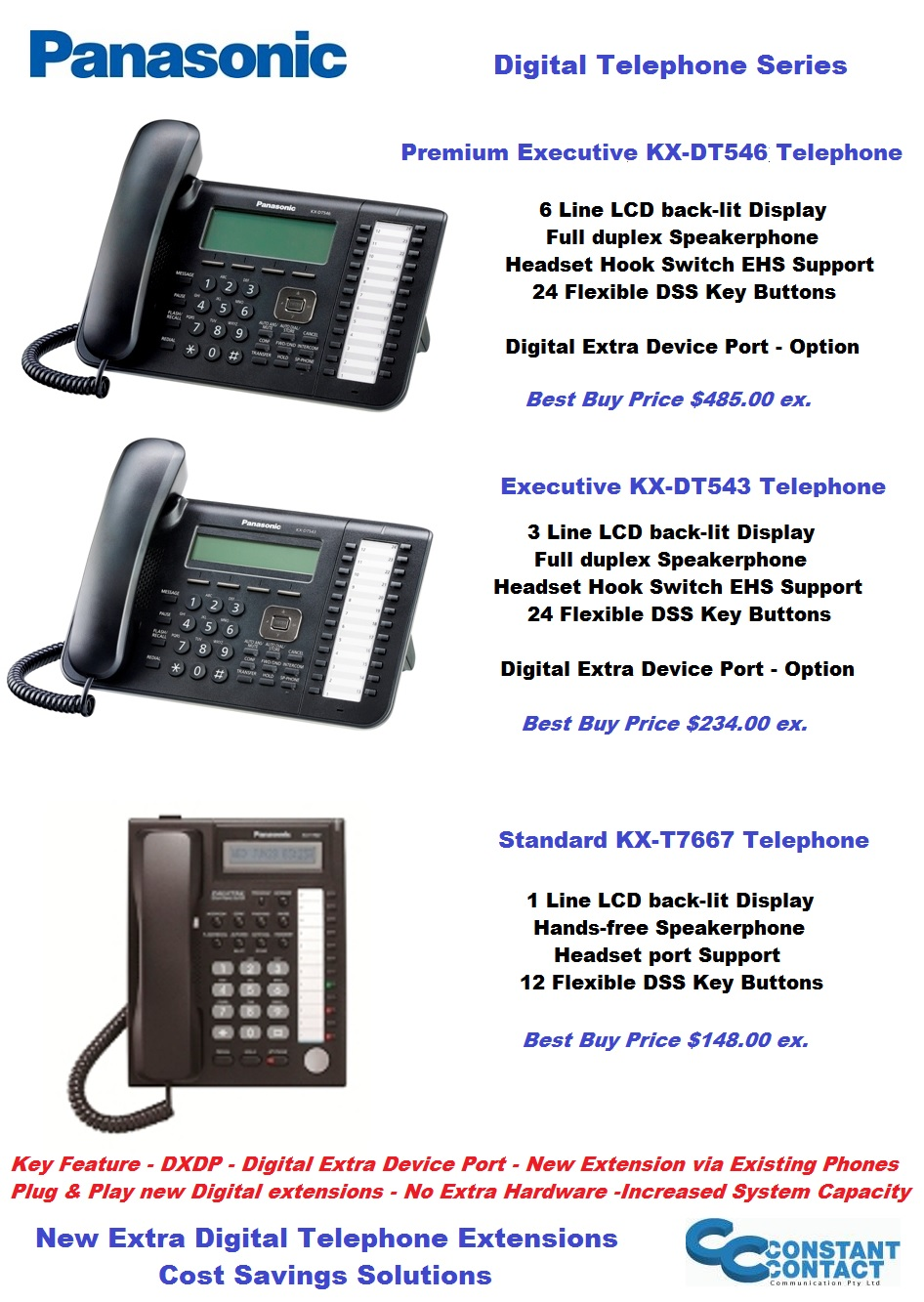 Panasonic Digital Telephones Cheapest Prices High Quality