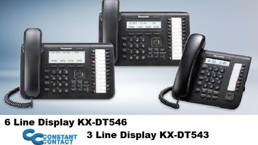 Panasonic Digital Telephones KX-DT546 KX- DT543