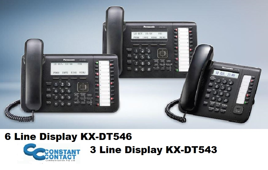 Panasonic Digital Telephones KX-DT546 KX- DT543