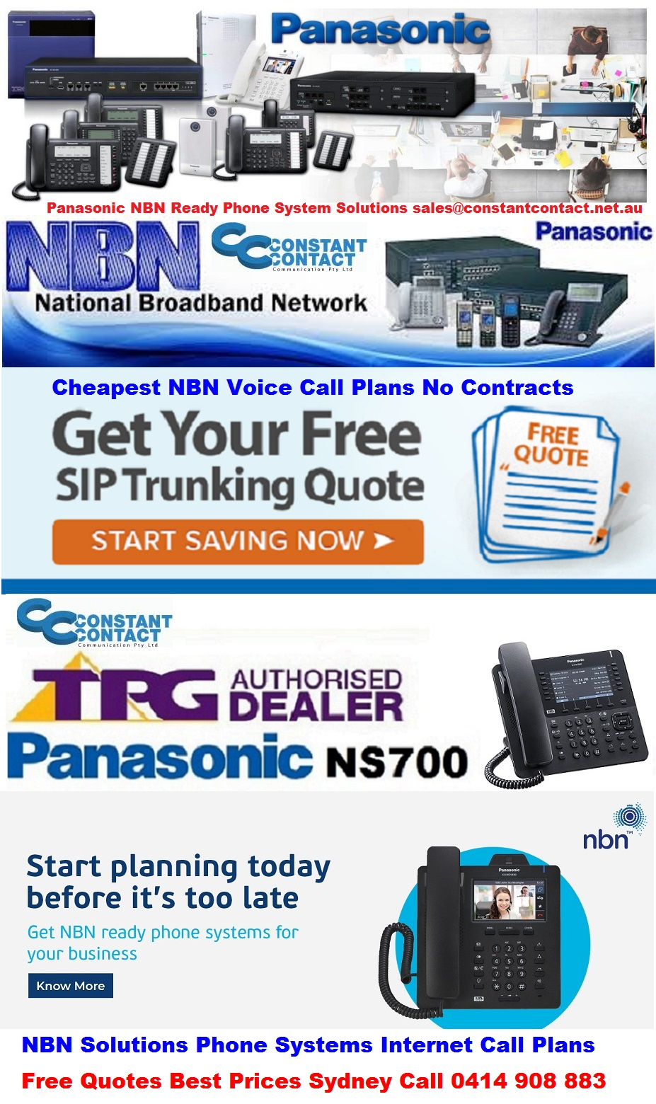 Panasonic nbn phone systems